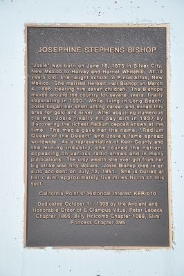 Josephine Stephens Bishop Marker image. Click for full size.