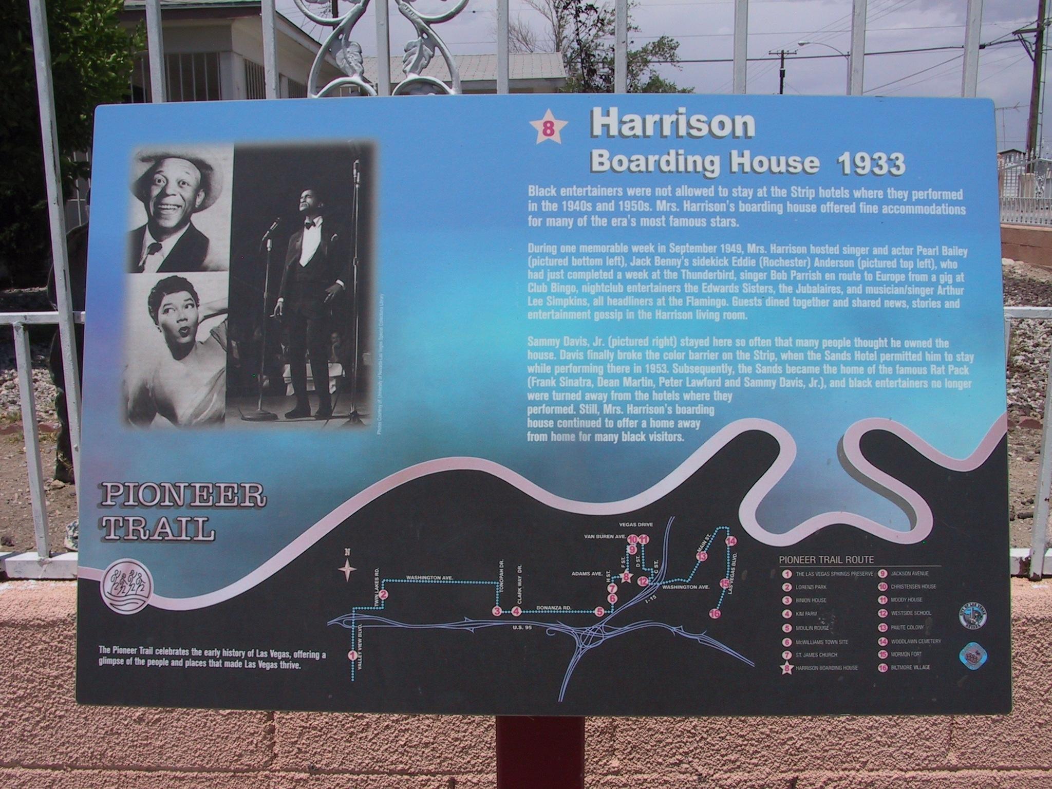 Harrison Boarding House Marker