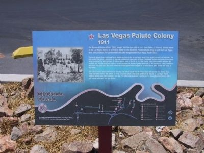 Las Vegas Paiute Colony Marker image. Click for full size.