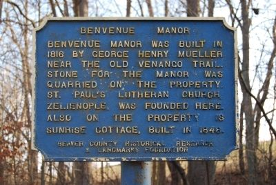 Benvenue Manor Marker image. Click for full size.