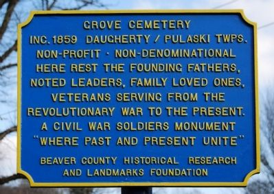 Grove Cemetery Marker image. Click for full size.