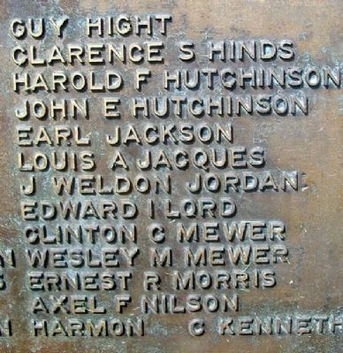 Old Orchard World War Memorial Honor Roll image. Click for full size.