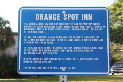 Orange Spot Inn Marker image. Click for full size.
