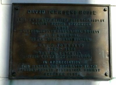 David Townsend House Marker image. Click for full size.