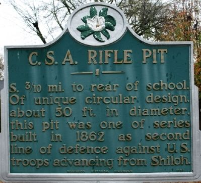 C.S.A. Rifle Pit Marker image. Click for full size.