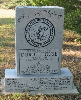 Du Roc House Marker - Front View image. Click for full size.