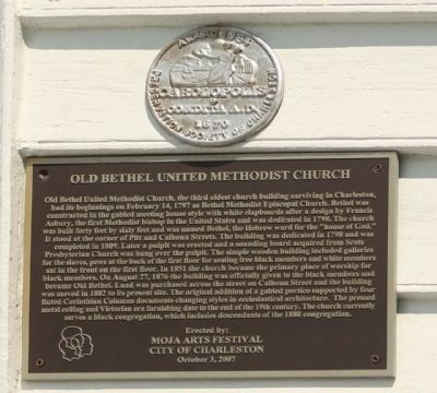 Old Bethel United Methodist Church Marker image. Click for full size.