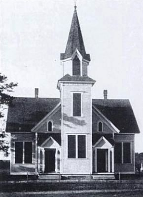 First Baptist Church of Belton<br>Location 1888-1911<br>Present Site of City Tennis Courts image. Click for full size.