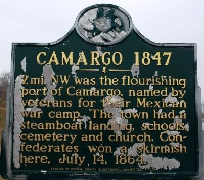 Camargo - 1847 Marker image. Click for full size.