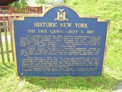 The Erie Canal - July 4, 1817 Marker image. Click for full size.