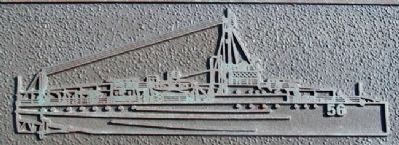 U.S.S. Eagle-56 (PE-56) Relief on Marker image. Click for full size.