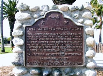 First Water-to-Water Flight Marker image. Click for full size.