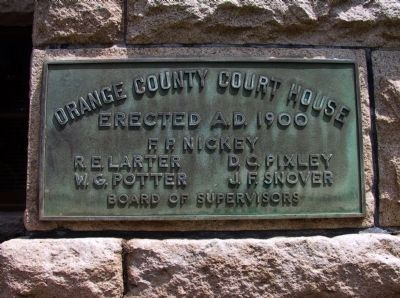 Orange County Courthouse Marker image. Click for full size.