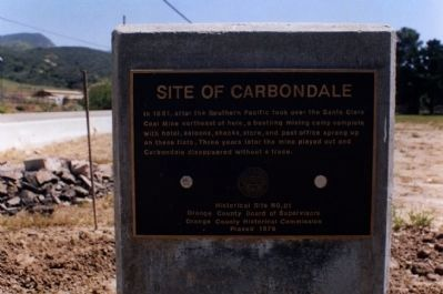 Site of Carbondale Marker image. Click for full size.