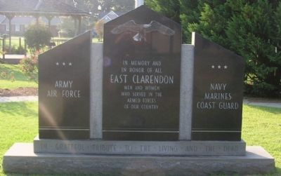 East Clarendon Marker image. Click for full size.