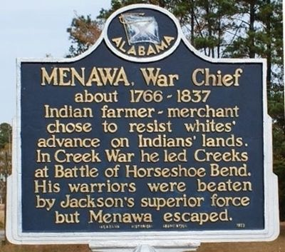 Menawa, War Chief Marker image. Click for full size.