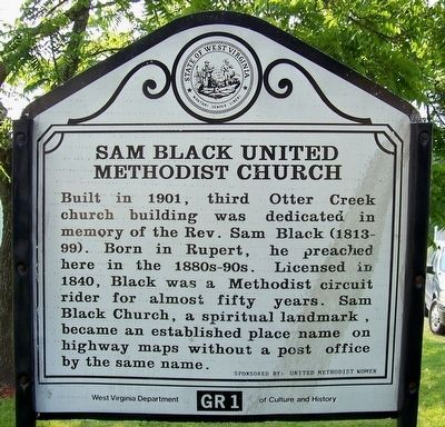 Previous Sam Black United Methodist Church Marker image. Click for full size.