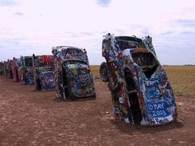 Cadillac Ranch image. Click for full size.