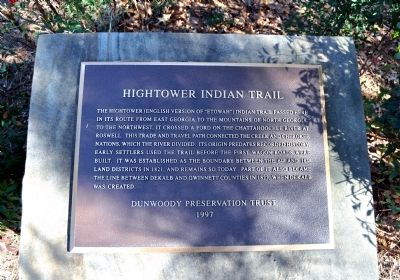 Hightower Indian Trail Marker image. Click for full size.