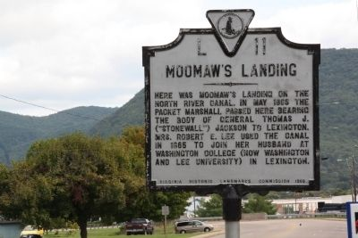 Moomaw's Landing Marker image. Click for full size.