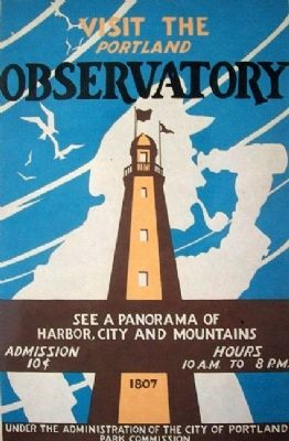Observatory Poster on Looking North Marker image. Click for full size.