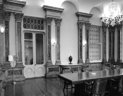 South Carolina National Bank<br>of Charleston (c. 1817)<br>Interior - Board of Directors&#39; Room image. Click for full size.