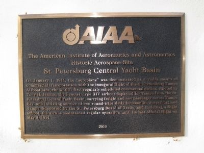 St. Petersburg Central Yacht Basin Marker image. Click for full size.