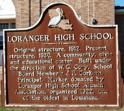 Loranger High Shool Marker image. Click for full size.