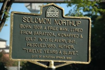 Solomon Northrup Marker image. Click for full size.