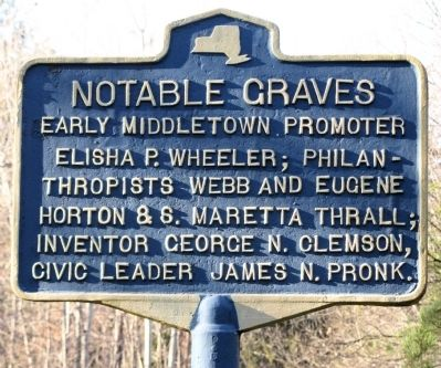 Notable Graves Marker. image. Click for full size.