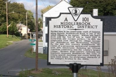 Middlebrook Historic District Marker image. Click for full size.