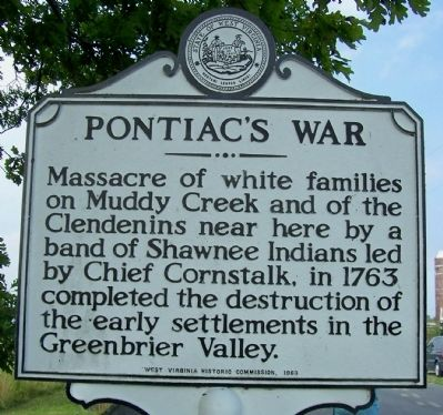 Pontiac's War Marker image. Click for full size.