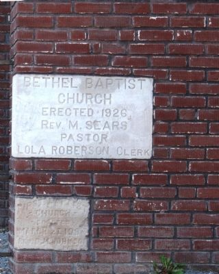 Cornerstone of Bethel Baptist Church image. Click for full size.