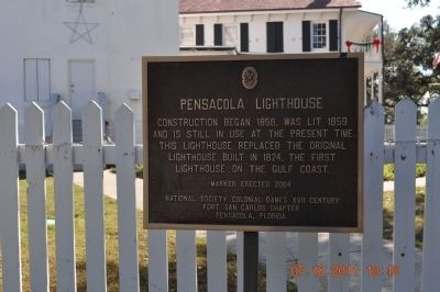 Pensacola Lighthouse Marker image. Click for full size.
