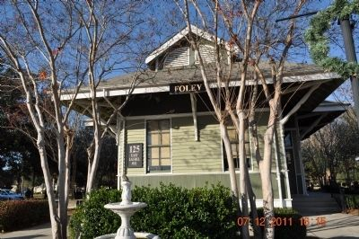 City of Foley Train Depot now a museum image. Click for full size.