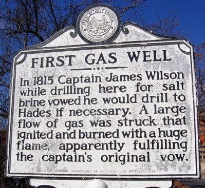 First Gas Well Marker image. Click for full size.