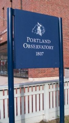 Portland Observatory Sign image. Click for full size.