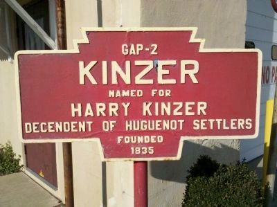 Kinzer Marker image. Click for full size.
