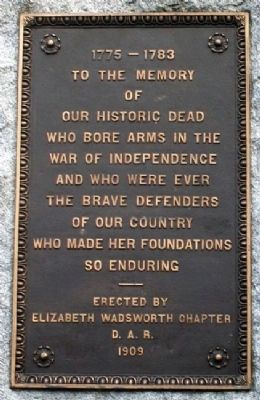 War of Independence Memorial Marker image. Click for full size.