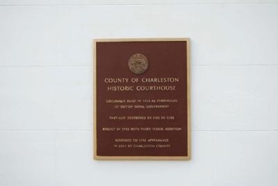 County of Charleston Historic Courthouse Marker image. Click for full size.