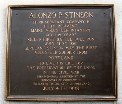 Alonzo P. Stinson Marker image, Touch for more information