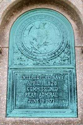 Rear Admiral James Alden Marker image. Click for full size.