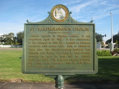 St. Bartholomew's Church Marker image. Click for full size.