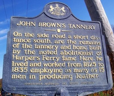John Brown's Tannery Marker image. Click for full size.