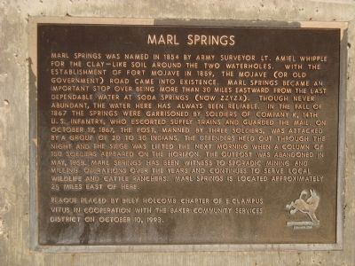 Marl Springs Marker image. Click for full size.