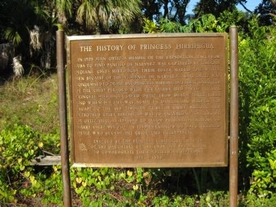 The History of Princess Hirrihigua Marker image. Click for full size.