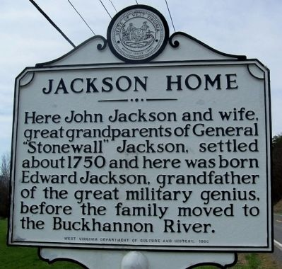 Jackson Home Marker image. Click for full size.