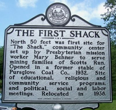 The First Shack Marker image. Click for full size.