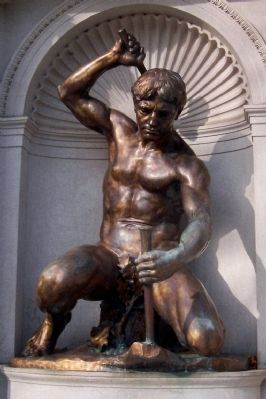 "Niehaus's bronze figure of ""The Driller."" image. Click for full size."