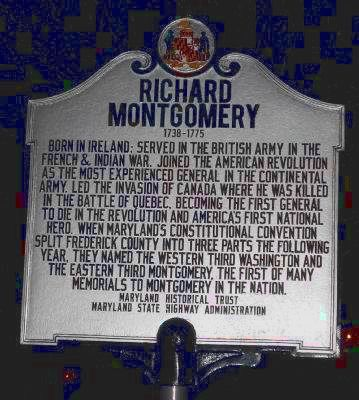 Richard Montgomery Marker image. Click for full size.